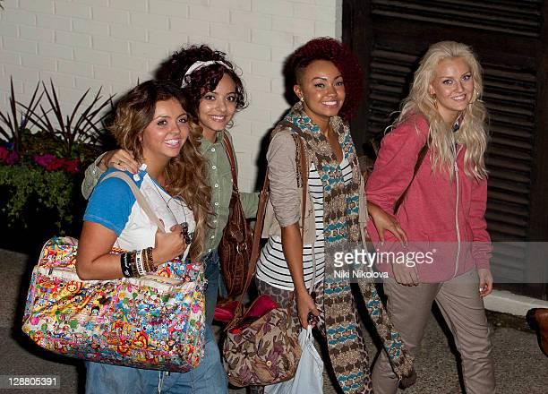 Girl group Rhythmix leaving the X Factor Studios on October 9, 2011 in London, England.