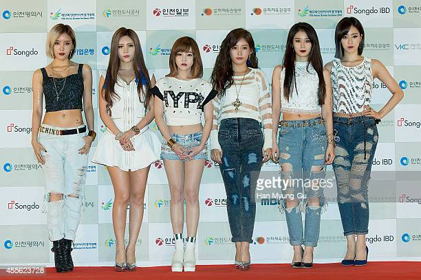 Girl group Tara attends the 2014 Incheon KPop Concert on September 17 2014 in Incheon South Korea