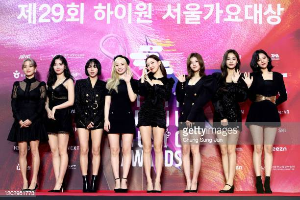 Girl group TWICE attend the 29th Seoul Music Awards at Gocheok Sky Dome on January 30, 2020 in Seoul, South Korea.