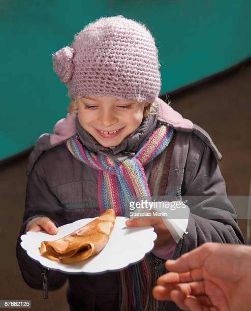 Girl happy with crepe