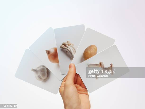 Girl has White Fruits and Vegetables Card