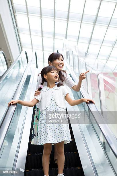 A girl have fun shopping with Grandmother