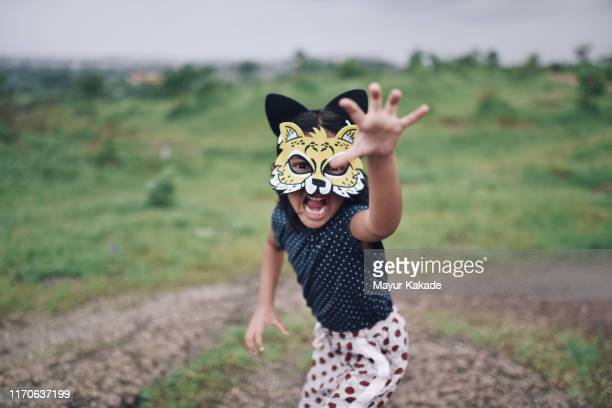girl having fun outdoors - children only stock pictures, royalty-free photos & images