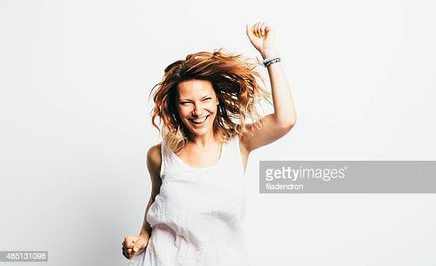 girl having fun - dancing stock photos and pictures