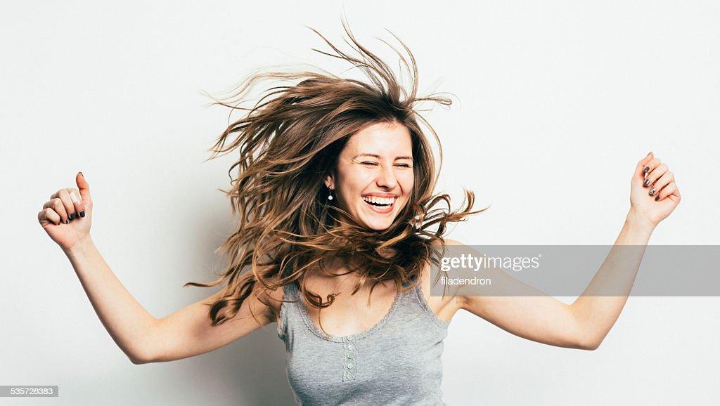 Chica divirtiéndose : Foto de stock