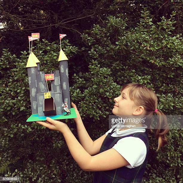 Girl Holding Castle Project