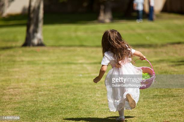 Girl holding Easter basket