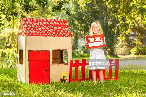 Girl Holding ~For Sale~ Sign