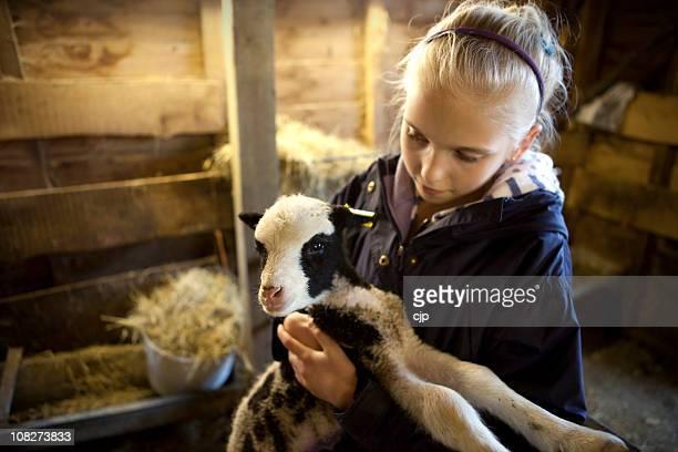 Girl Holding Spring Jacob Lamb