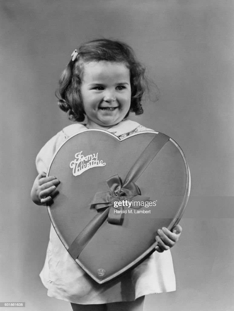 Girl Holding Valentine Gift Box Stock Photo Getty Images