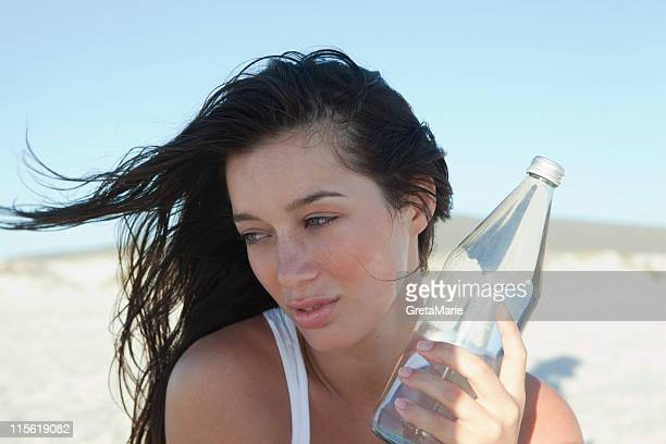 Girl holding waterbottle
