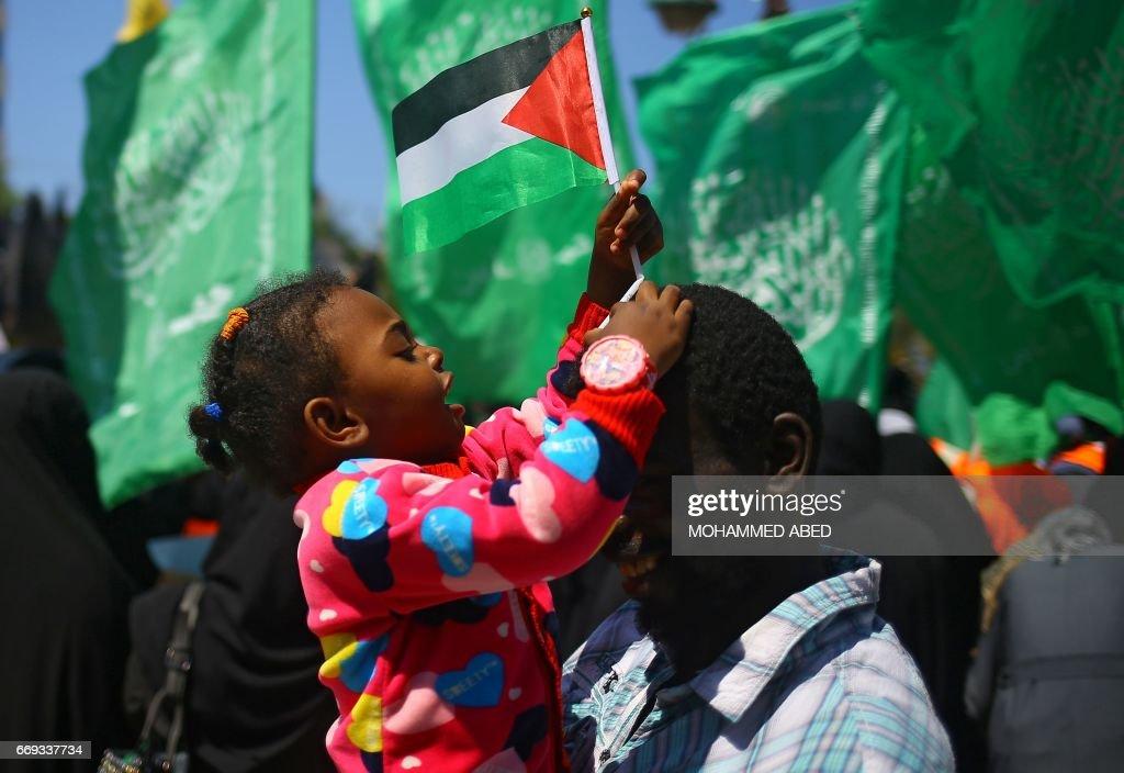 PALESTINIAN-GAZA-ISRAEL-CONFLICT-PRISON-DEMO : News Photo