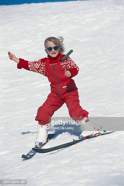 girl ice skiing - ski pants stock pictures, royalty-free photos & images