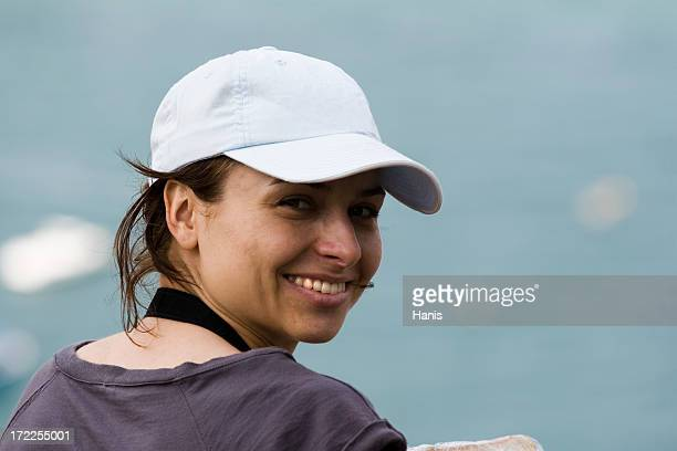 girl in a baseball cap - baseball cap stock pictures, royalty-free photos & images