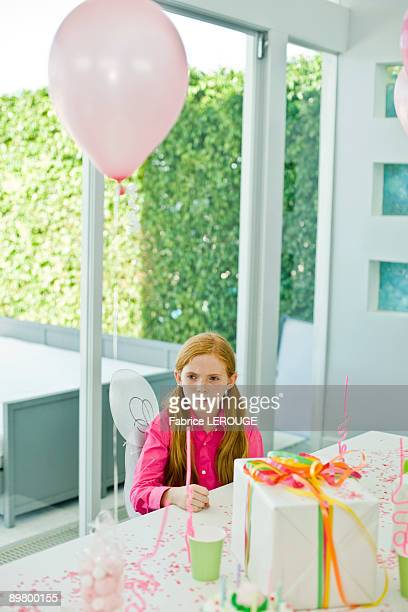 Girl in a birthday party
