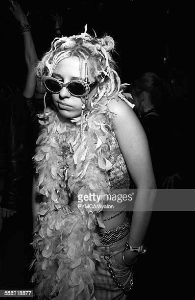 Girl in a club Croatia 1990s.