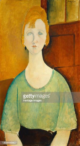 Girl in a Green Blouse, 1917. Artist Amadeo Modigliani.