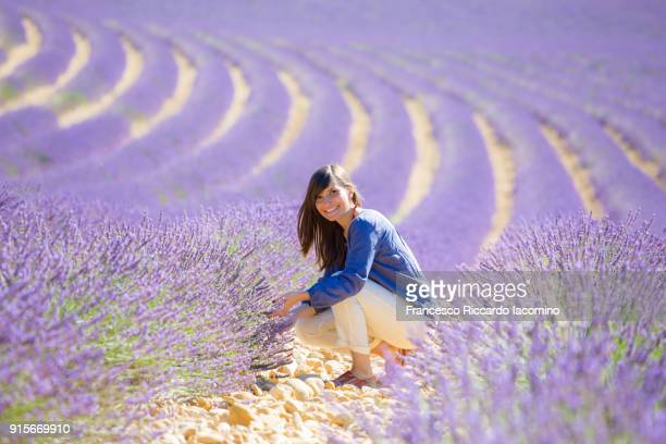 Girl in a lavender field, Provence, France