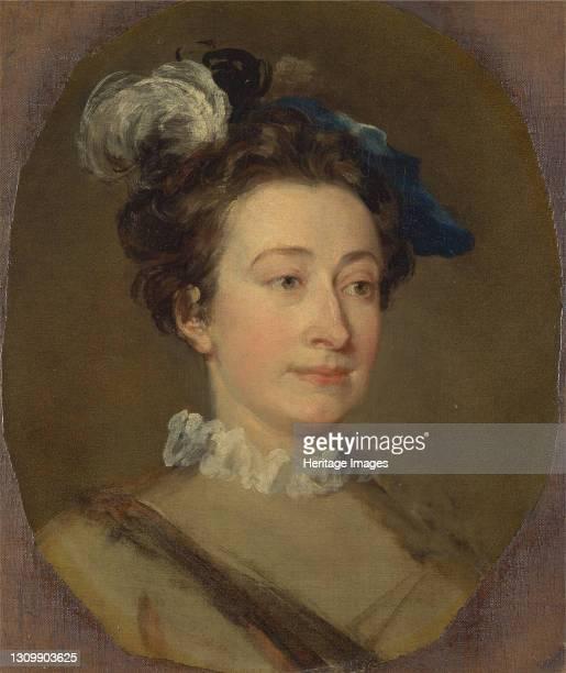 Girl in a Plumed Hat, ca. 1740. Artist William Hogarth. .