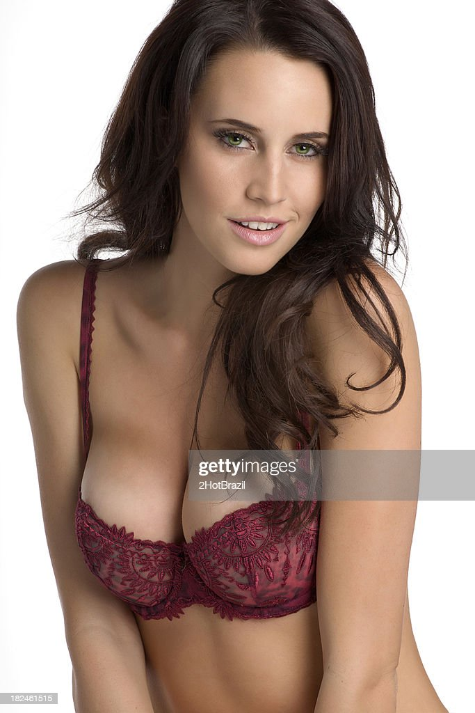 Girl in a sexy bra with beautiful breasts