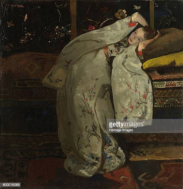 Girl in a White Kimono 1894 Found in the collection of Rijksmuseum Twenthe Enschede Artist Breitner George Hendrik