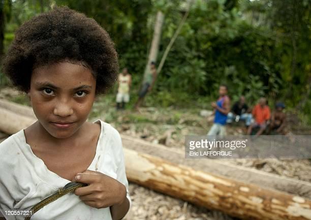 Girl in Alotau Papua New Guinea on October 03 2009