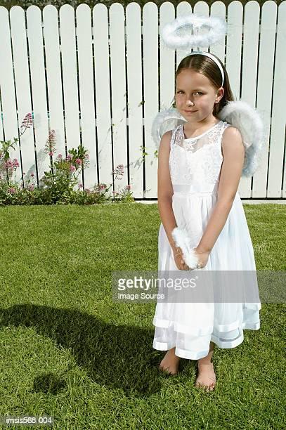 Girl in angel costume