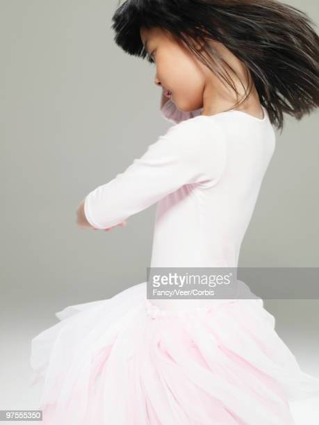 Girl in ballet outfit