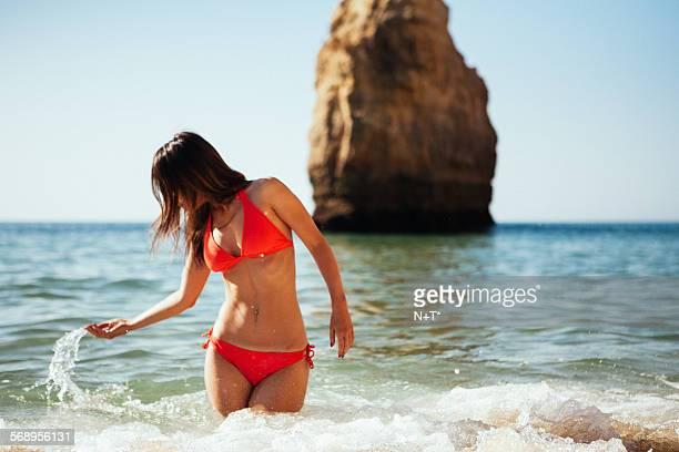 girl in bikini - bikini bottom stock pictures, royalty-free photos & images