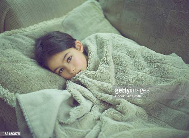 Girl in blanket