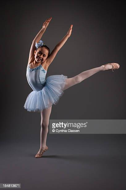 Girl (8) in Blue, Ballerina Dancer