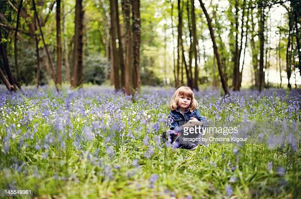 Girl in Bluebell Wood