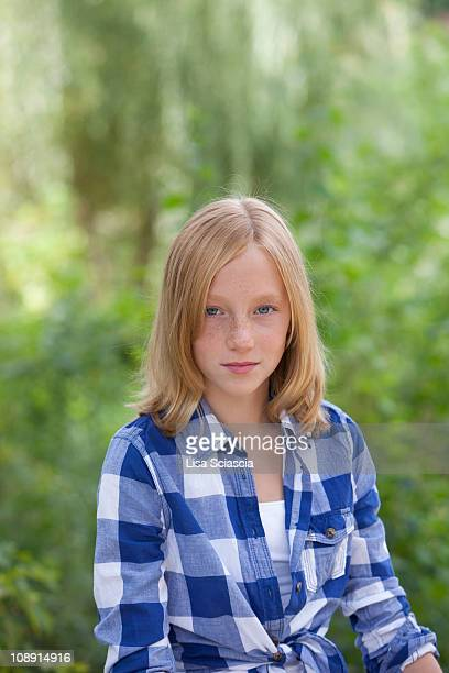 Girl in checked shirt