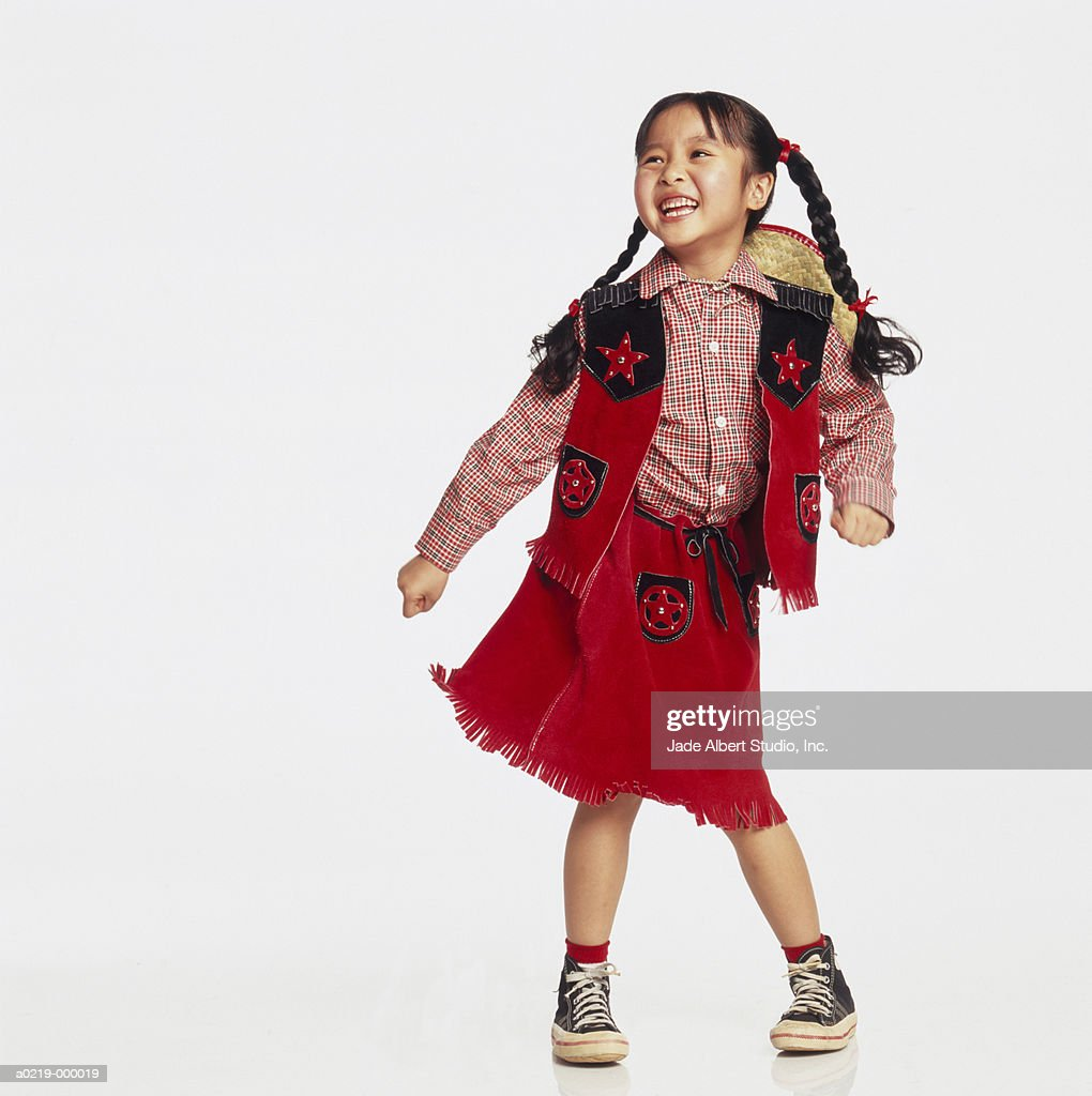 Girl In Cowgirl Costume Photo Getty Images