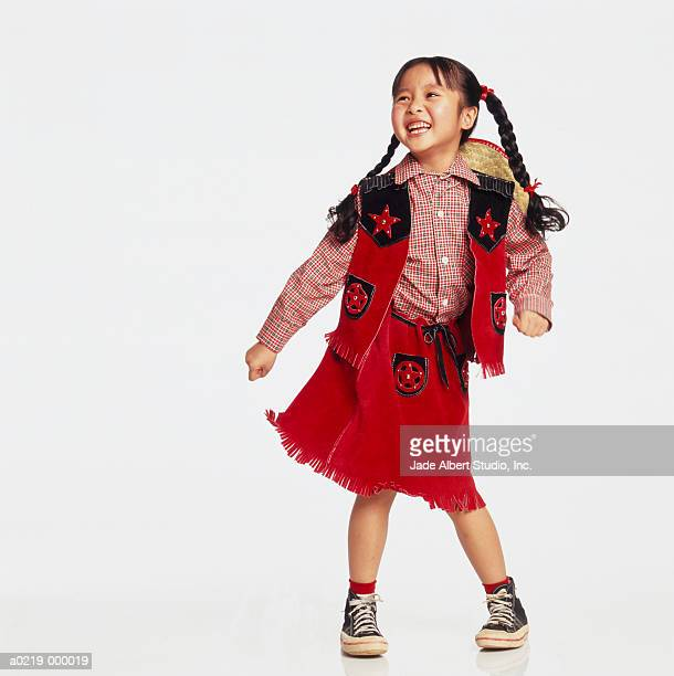 Girl in Cowgirl Costume