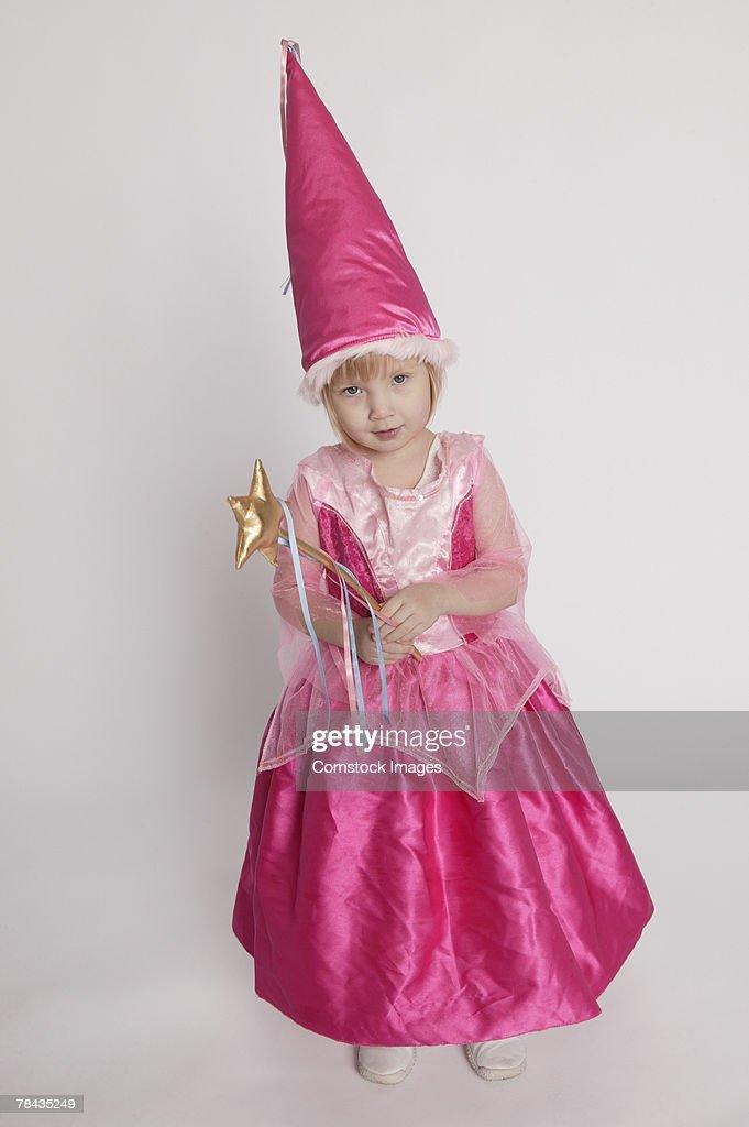 Girl in fairy princess costume : Stockfoto