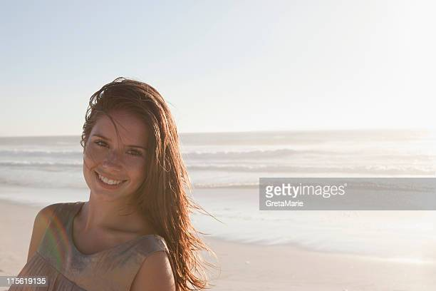 Girl in front of sea