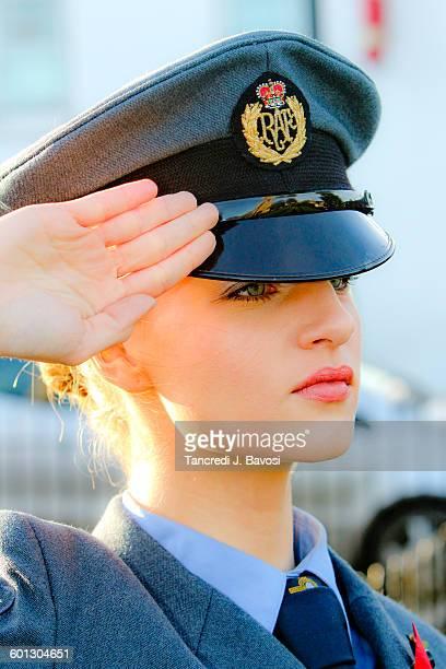 RAF girl in iniform