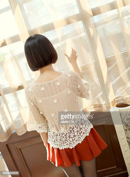 girl in lace top