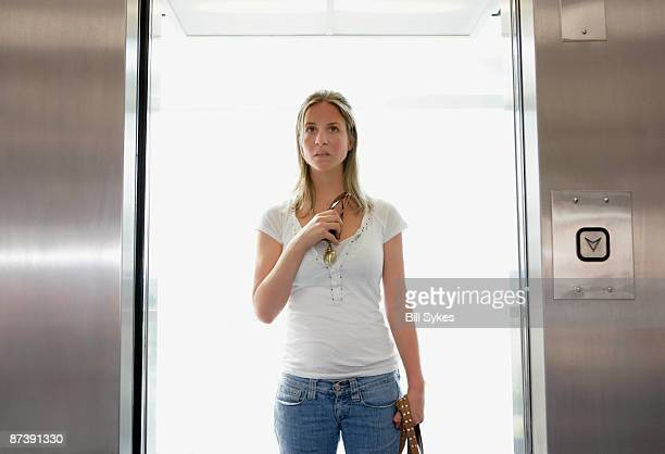 Girl in lift