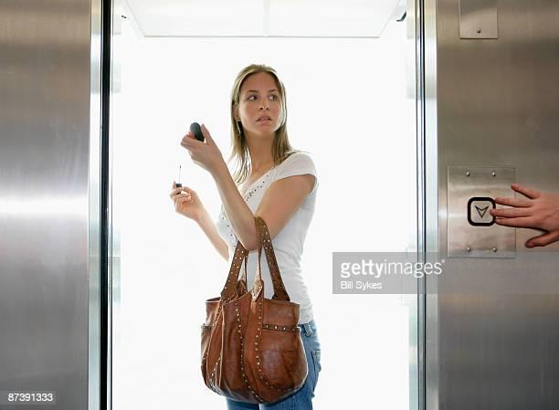 Girl in lift