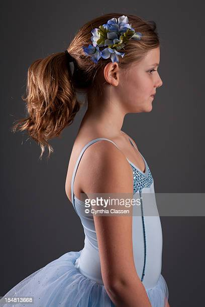 Girl (9) in Light Blue Ballet Dress
