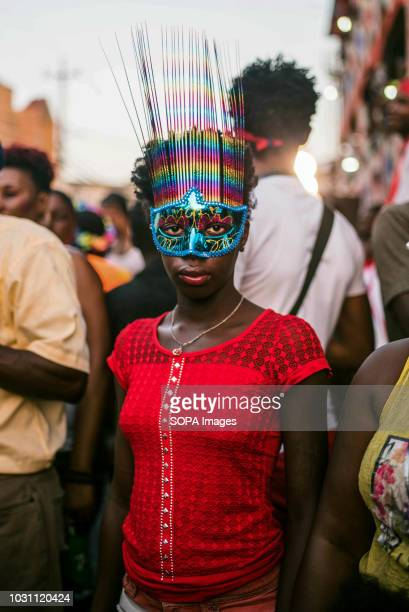 A girl in mask seen during the celebrations Kanaval is a week long celebration leading up to Mardi Gras and the start of Lent in Haiti The seaside...