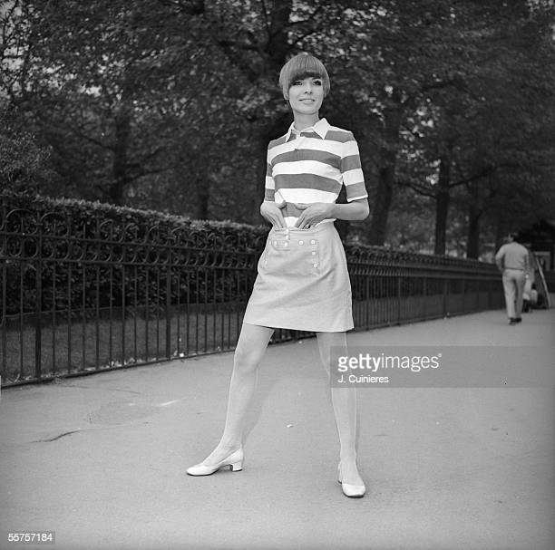Girl in miniskirt France in the end of 1960's JAC2046614
