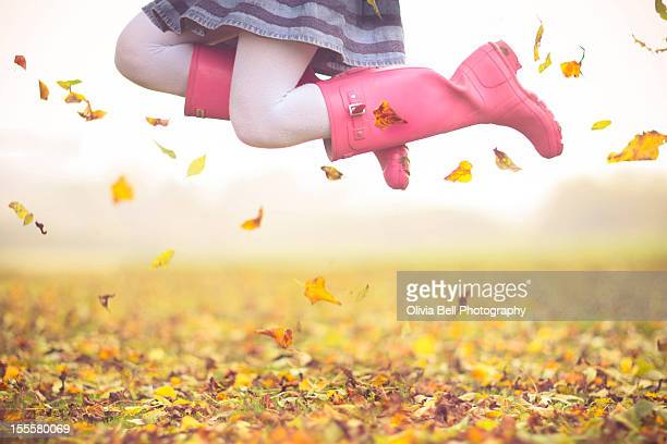 Girl in pink boots