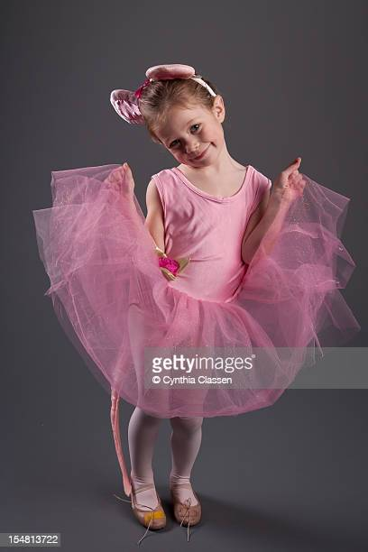 girl (4) in pink tutu - cynthia classen stock photos and pictures