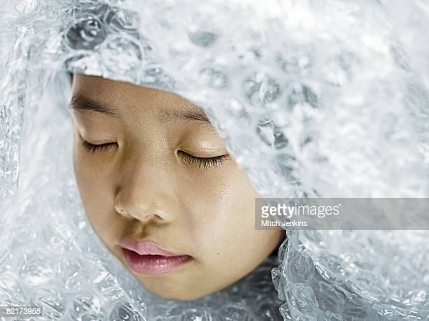 Girl in Protective Wrapping