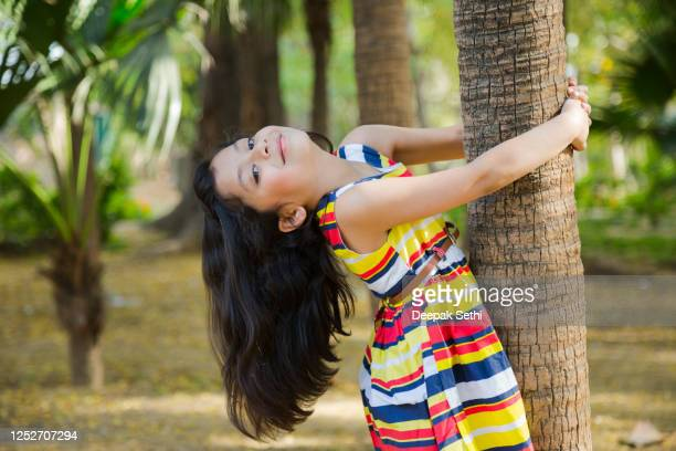 girl in public park - children only stock pictures, royalty-free photos & images