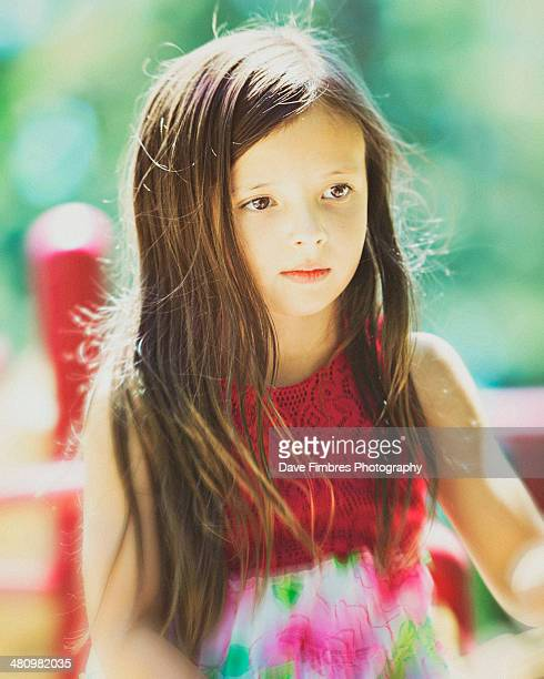 girl in red - fairfax county virginia stock photos and pictures