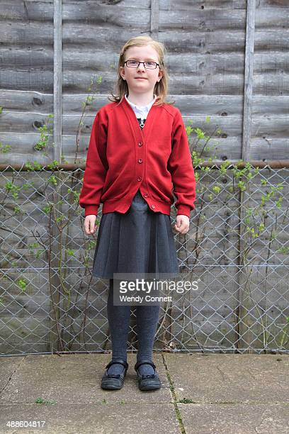 Girl in school uniform Wales